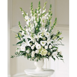 Arreglo grande con flores variadas blancas