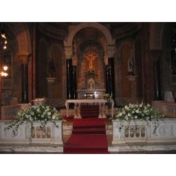 Arreglos grandes para decoración de iglesia
