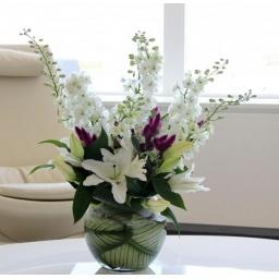 Burbuja elegance con flores variadas
