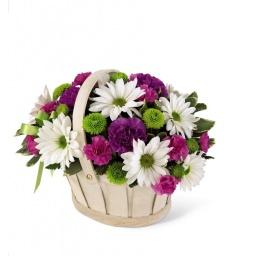 Canasta floral silvestre