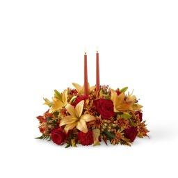 Centro de mesa alargado con velas  (Consultar precio)
