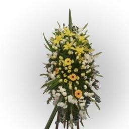 Corona de flores naturales OVAL
