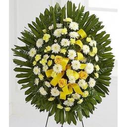 Corona de flores naturales CIRCLE