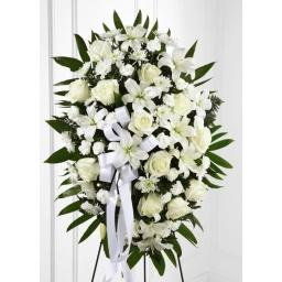 Corona de flores variadas blancas MASTER