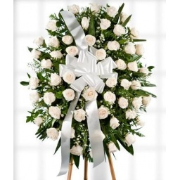 Corona de rosas blancas ELEGANCE