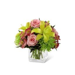 Delicada base con flores primaverales