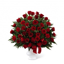 Florero con 50 Rosas Rojas