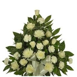 Palma de flores naturales chica (blanca)
