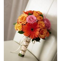 Ramo de novia con gerberas y rosas