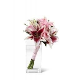 Ramo de novia con liliums y rosas