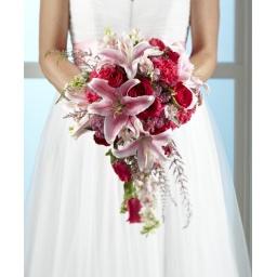 Ramo de novia con rosas liliums y flores variadas