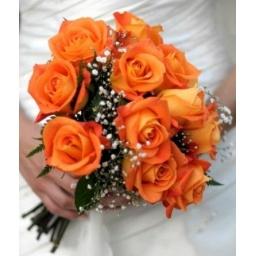 Ramo de novia naranja