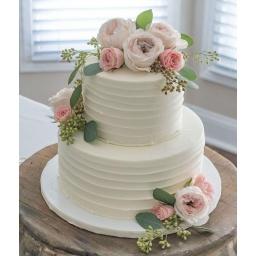 Torta con rosas pasteles